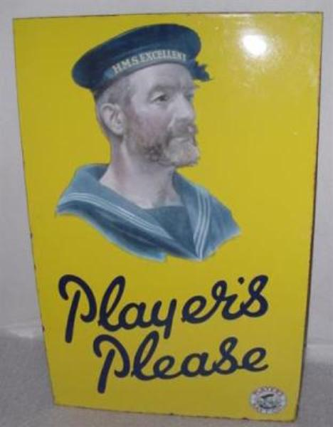 PLAYERS PLEASE MINT ENAMEL SIGN-----ST19