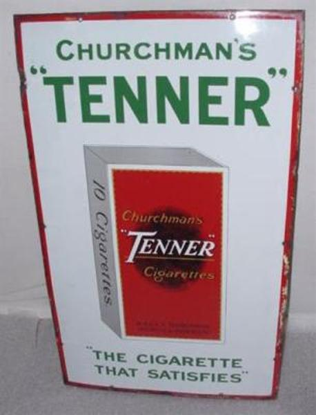 Churchman s Tenner - The Cigarette That Satisfies----ST18