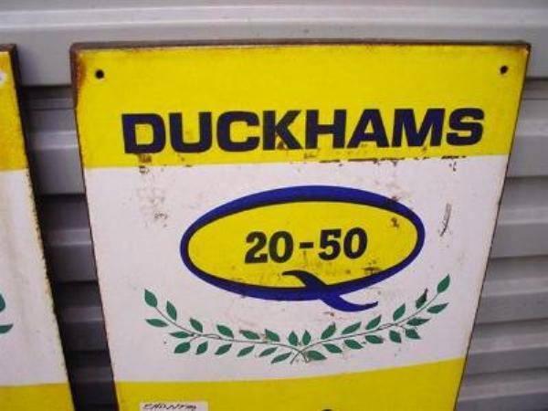 2 Duckhams Thermometers Enamel Signs  ------SA55