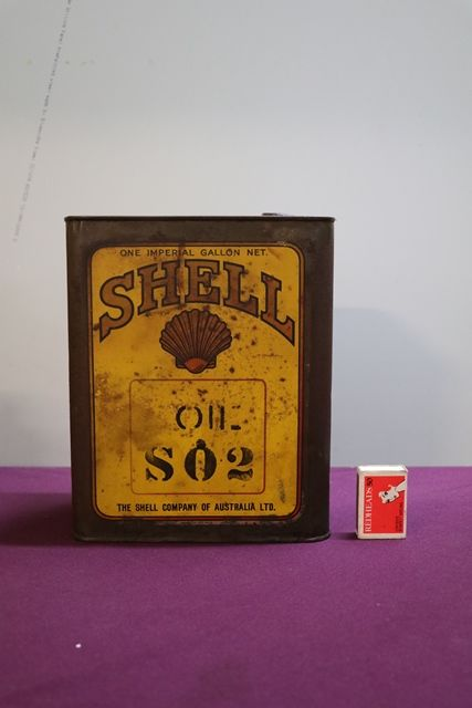Australian Shell One Gallon Motor Oil Tin