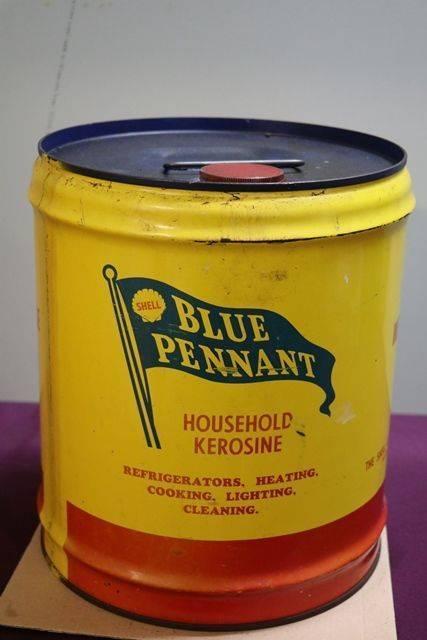 Australian Shell 4 Gallons Blue Pennant Household Kerosene Drum