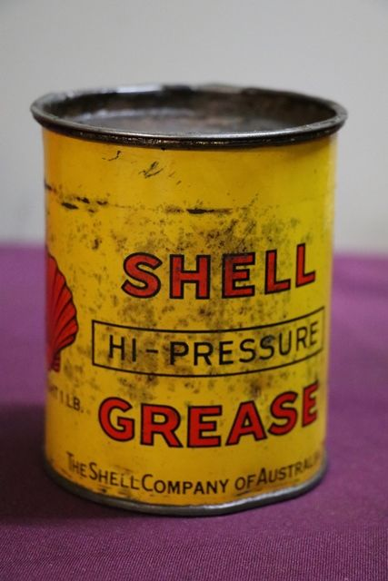 Australian Shell 1 lb HiPressure Grease Tin