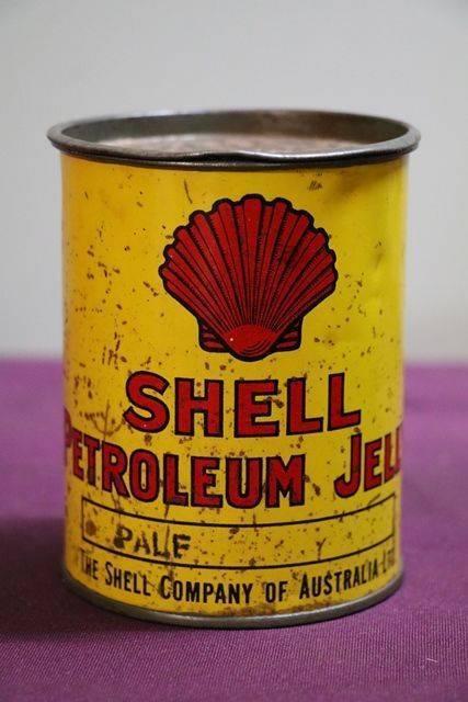 Australian Shell 1lb Petroleum Jelly andquotPaleandquot Tin