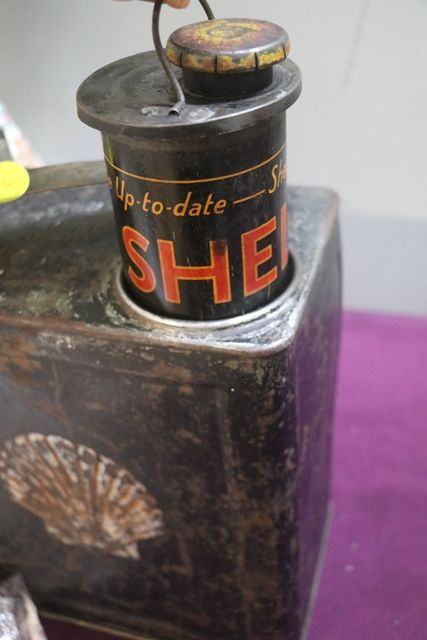 Shell 2 Gallons Running Board Can In Original Condition
