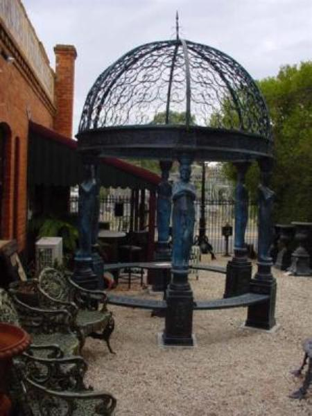 STUNNING CAST IRON GAZEBO   GF49