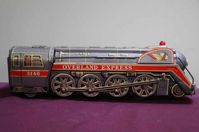 Battery Operated  Vintage Tin Litho Overland Express 3140 Train