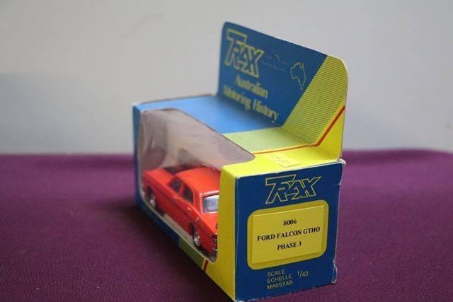 Early Boxed A143 Trax 8006 Ford Falcon GTHO 65E MOFFAT Model Car