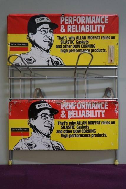 Dow Corning Tin Sign Shop Rack