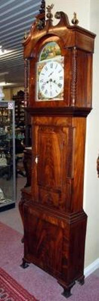 Mahogany Longcase Clock English C1840  ---C6