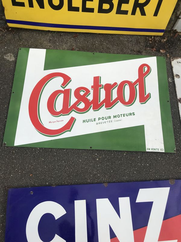 2019 Castrol Z Enamel Advertising Sign