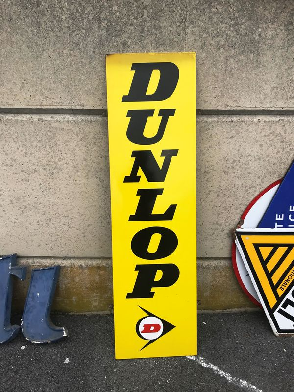 2019 Dunlop Tyres Vertical Strip Enamel Sign