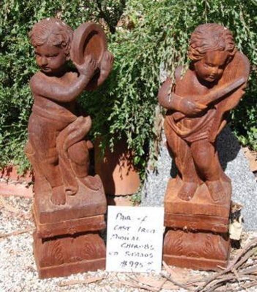Cherub Cast Iron Figurines --- GF 13