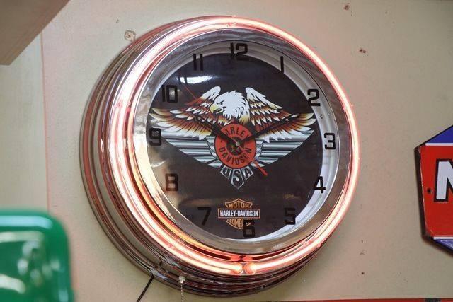 Harley Davidson Clock Light Box