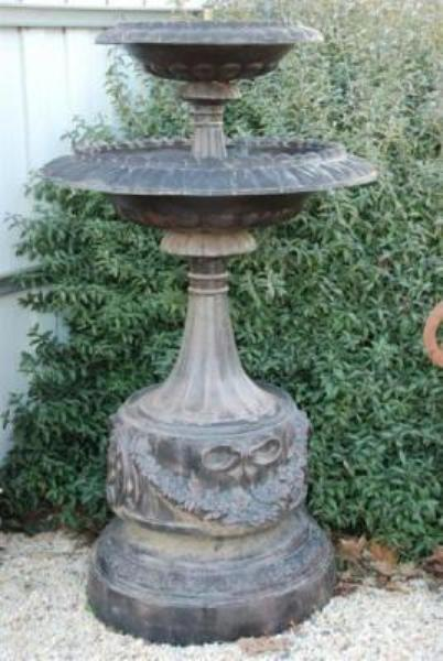 CAST IRON 2 TIER VICTORIA FOUNTAIN ---CI 7