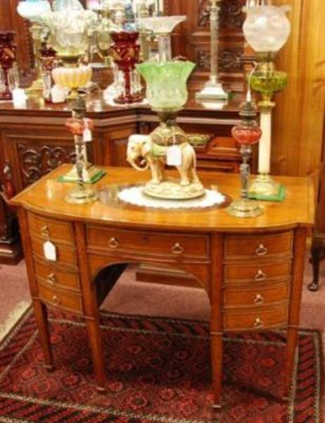 C18ct English Satinwood and Mahogany Sideboard   ANT 72