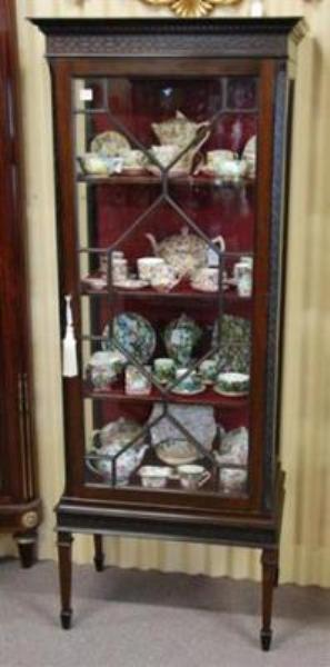 Edwardian Single Door Mahogany Display Cabinet  ANT 40