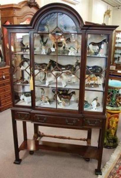 Edwardian Mahogany Display Cabinet --- ANT 12