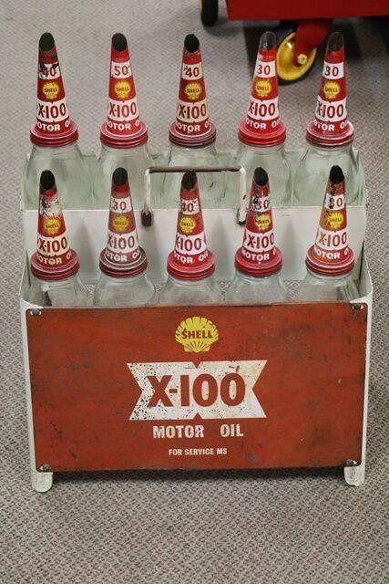 Shell 10 Oil Bottle Rack