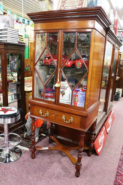 Early C20th Antique Mahogany Display Cabinet