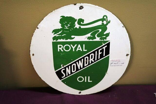 A Genuine Vintage Royal Snowdrift Oil Enamel Sign