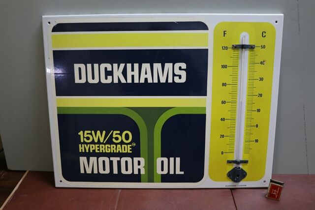 Vintage Duckhams 15W50 Motor Oil Thermometer