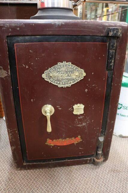 Antique Metal Safe in Original Condition