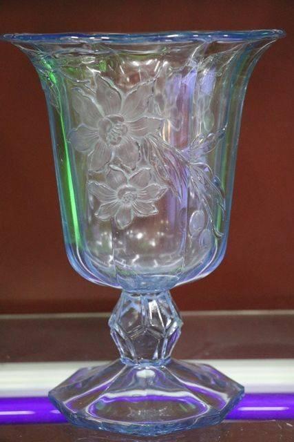 1920s Pressed Glass Celery Vase Xxxx Antique Complex