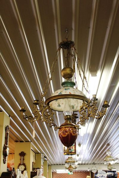 19th Century Continental Hanging Lamp