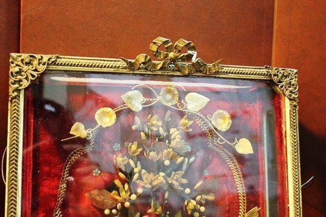 19th Century French Box Framed Flower Display