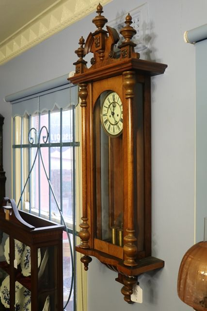 19th Century Walnut Double Weight Regulator Wall Clock