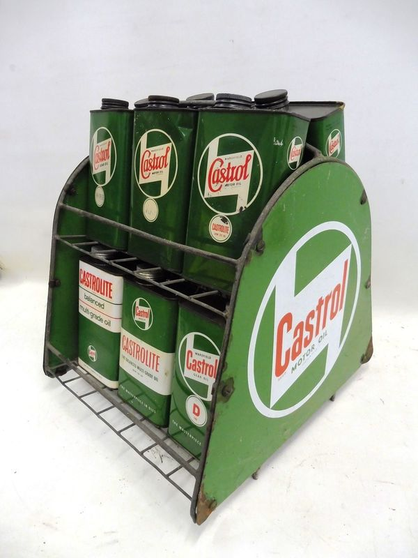2019 Castrol Enamel Forecourt Tin Rack