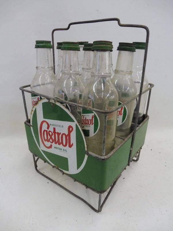 2019 Castrol Enamel Rack with 9 Bottles