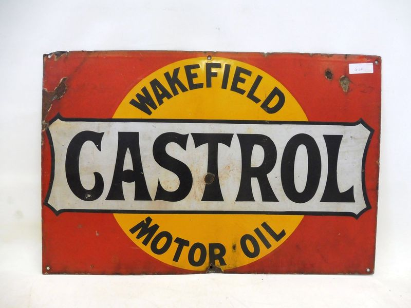 2019 Castrol Wakefield Early Enamel Sign