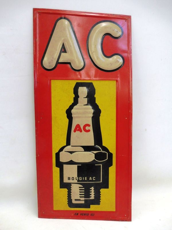 2019 Embossed AC Spark Plug Tin Sign