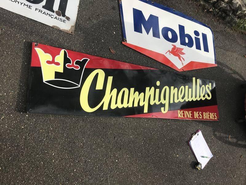 2019 Large Champigneulles Enamel Beer Sign