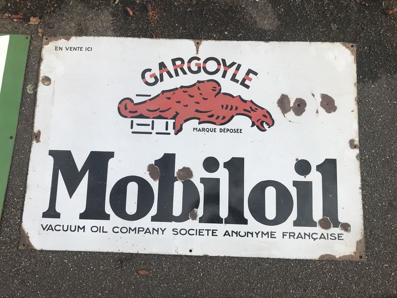 2019 Mobiloil Gargoyle Early Enamel Sign