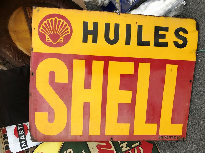 2019 Shell Oils Enamel Advertising Sign