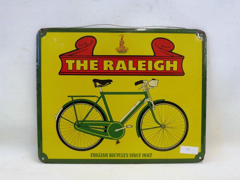2019 The Raleigh Cycle Pictorial Enamel Sign