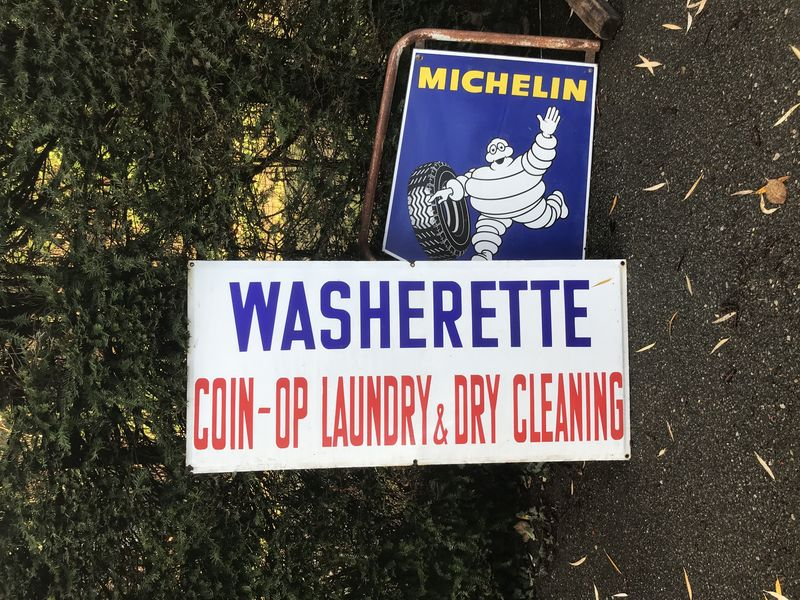 2019  Washerette Enamel Advertising Sign