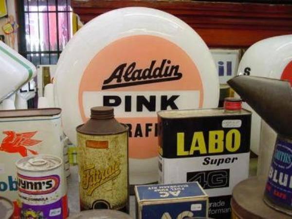 ALADDIN PINK PARAFFIN ORIGINAL GLASS GLOBE    AUTO 49