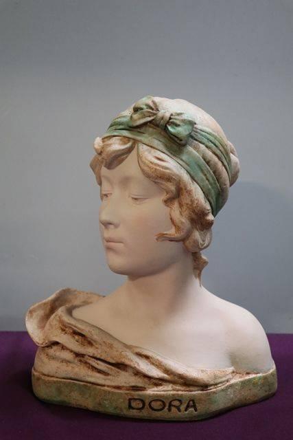 20th Century French Chalk Bust Of Dora
