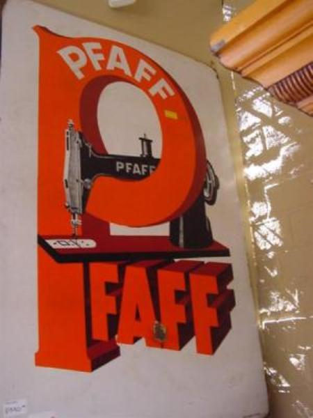 PFAFE SEWING MACHINE ENAMEL SIGN----SEW50