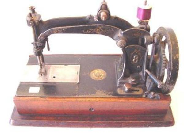 WHEELER AND WILSON BOXED SEWING MACHINE ---SEW22
