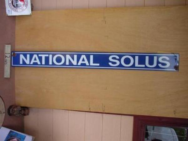 NATIONAL SELUS STRIP ENAMEL SIGN ---SM108