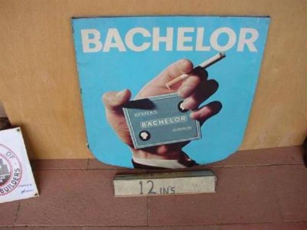 BACHELOR CIGS DOUBLE TIN SIGN ---ST126