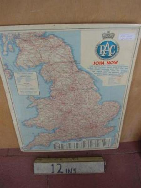 LAMINATED RAC MAP OF ENGLAND---SA101