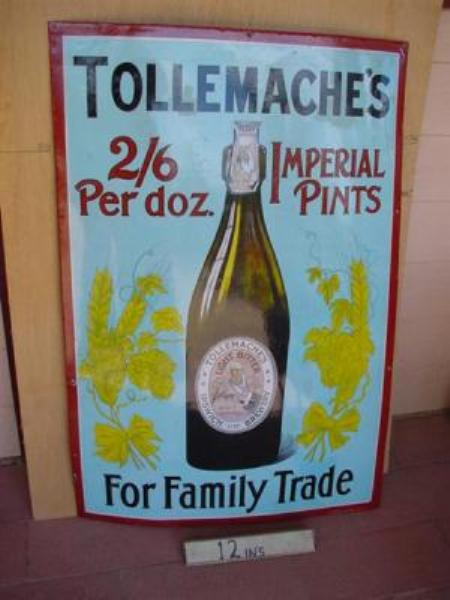 TULLEMACHES IMPERIAL PINTS ENAMEL SIGN --SP31