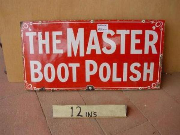 THE MASTER BOOT POLISH ENAMEL SIGN ---SG92