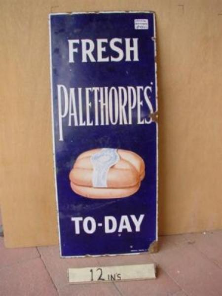 FRESH PALETHORPES ENAMEL SIGN --- SG88