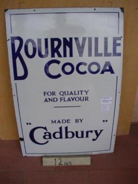 MINT BOURNVILLE COCOA ENAMEL SIGN --- SG76